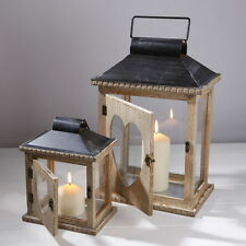Unbranded Wooden Candle & Tea Light Lanterns