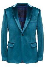 Duchamp Velvet Dinner Party Blazer Jacket Green 46R TD181 QQ 18