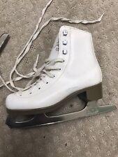 Glacier 120 Girls White Skates Size 2 Used