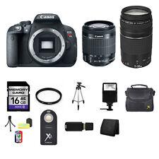 Canon EOS Rebel T5i/700D DSLR Camera w/18-55mm, 75-300mm, 16GB Best Value Kit