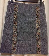 MIU MIU PRADA Lined Skirt Elaborate Metallic Embellishment Womn 38 S XS NWOT New