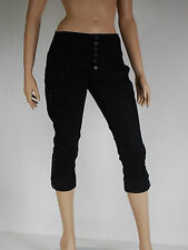 pantacourt jeans noir femme DIESEL modele toobut taille W 28 ( T 38  )