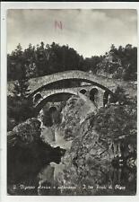 cartolina bianco e nero valle vigezzo i tre ponti di olgia hauna scritta in alto