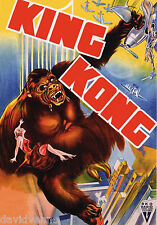 Vintage Movie Poster repo ACEO King Kong the greatest story of all time