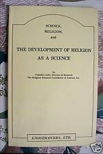 Science, Religion Development Religion Science F LOEHR