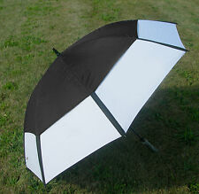 "62"" Black/White Golf Umbrella Vented NEW"