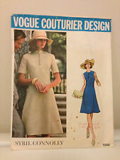 """Vtg Vogue Couturier Pattern Design Sybil Connolly 1048 Size 10 NY Bust 32 1/2"""""""