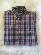 Men's long sleeve windowpane plaid button down shirt. Gently worn, size L.