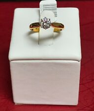 NEW 18ct Yellow Gold Diamond Solitaire Engagement Ring Independently Valued
