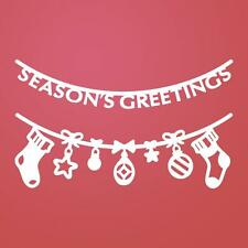 Ultimate Crafts Stockings Were Hung Christmas Dies LT157694 Season's Greetings