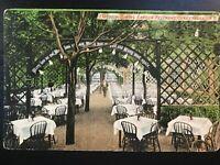 Vintage Postcard>1911>Feltman's Resturant>Outdoor Dining Garden>Coney Island>N.Y