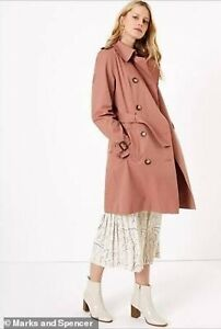 Marks and Spencer Rose Coloured Trench Coat - As Seen On Trash To Treasured
