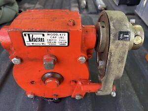 THERN 472 Hand Winch,Worm Gear,2000 lb.