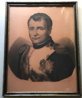 French School Antique Drawing 19th Century Portrait of NAPOLEON BONAPARTE