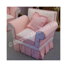 Doll House 12th Scale : Shabby Chic pink Chair