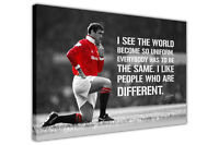 Black and White Eric Cantona Quote Framed Canvas Wall Prints Football Pictures