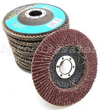 "10 Pc 4-1/2"" x 7/8"" ALUMINUM OXIDE Grinding Wheel Flap Disc 40 GRIT BRAND NEW"