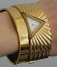 RARE Franklin Mint 22 Karat Gold Plate Egyptian Pyramid Watch Unique!