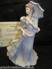 WEDGWOOD SHIRLEY CURZON CHRISTINA LADY FIGURE MATT FINISH PORCELAIN & CERT