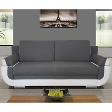 Sofa Bed NINA with Storage Container Sleep Function Bonell Springs New