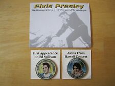 (2) Elvis Presley Colorized Kennedy Half Dollars