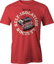 Self Isolation Society Italian Job Mini Cooper Retro Funny T Shirt.