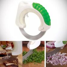 New Rolling Circular Knife Stainless Steel Vegetable Food Slicer Kitchen Cutter