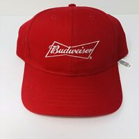 Budweiser Beer Red Snapback Adjustable Baseball Hat Cap