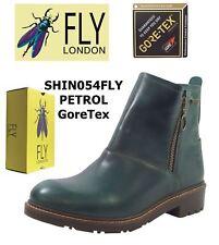 Fly London SHIN054FLY PETROL Rug Leather Goretex Waterproof Boots