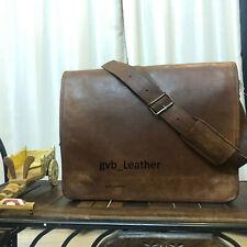 """18"""" Men's Genuine Leather Cowhide Crossbody Shoulder Satchel Messenger Ideal Bag"""