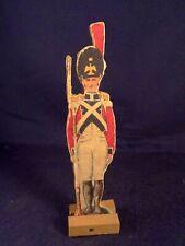 Ancien jouet bois figurine personnage militaire soldat guerre 1910-20