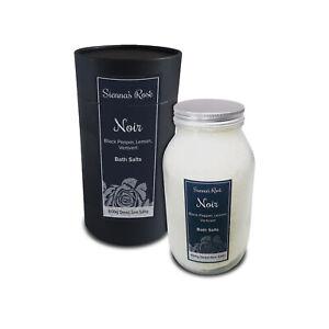 Noir - Dead Sea Bath Salt Jars with Essential Oils - 600g Scented Bath Soak