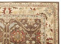 New Brandon Brown Beige Oriental Oushak Hand-Tufted 100% Wool Area Rug Carpet