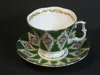 Royal Albert Royal Series Buckingham Bone China Tea Cup & Saucer, England, Mint!