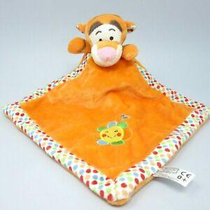 Posh Paws Tigger orange comforter blankie baby doudou Disney Winnie Pooh spots