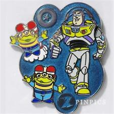 BUZZ LIGHTYEAR & LITTLE GREEN Men wearing rockets TOY STORY DISNEY PIN 117405