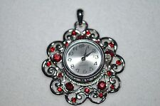 Snap button charm FLOWER Pendant & Watch snap button charm/silverplated/18MM