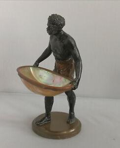 Antique vintage Venetian Blackamoor sculpture XIX 19 th century bronze spelter