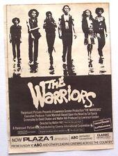 THE WARRIORS 1979 promo ADVERT walter hill