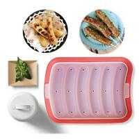 DIY Sausage Making Mold Silicone Burger Hot Dog Maker Mould With 6 Cavity MA