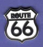 ROUTE 66 SMALL HAT PIN LAPEL PIN TIE TAC ENAMEL BADGE @2 #1473