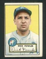 1952 Topps #210 Dick Fowler VG/VGEX Athletics 108691