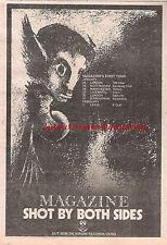 MAGAZINE Shot By both Sides 1978 UK Press ADVERT 10x7 inches