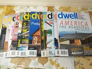 12 Dwell Magazine Back Issues Lot 2012 & 2013 Incomplete Years Modern Home Decor