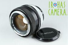 Canon FD 55mm F/1.2 Lens #20327 F5