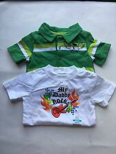 Lot of 2 Boys Infant OKIE DOKIE Outfits Sz 12M NWT White Bodysuit & Green Romper