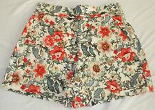 Zara  Damen Shorts -High Waist-  Gr. XS / 34/36  >weiß/blau/rot<   NEUWERTIG