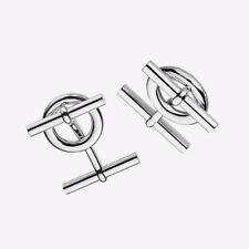 Authentic HERMES Chaine d'Ancre Sterling Silver French Shirt Cufflinks RRP $560
