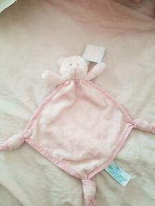 RUSS BERRIE Baby GIRL pink teddy Comforter Soft Toy Snuggle Blanket NEW