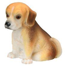 BEAGLE DOG PUPPY FIGURINE.LIFELIKE STATUE.ADORABLE LITTLE PUP FIGURE.NEW